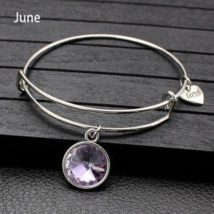 Jewelry - June Birthstone Bangle Bracelet